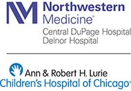 Ann & Robert H. Lurie Children's Hospital of Chicago at Northwestern Medicine CDH and Delnor Hospital logo